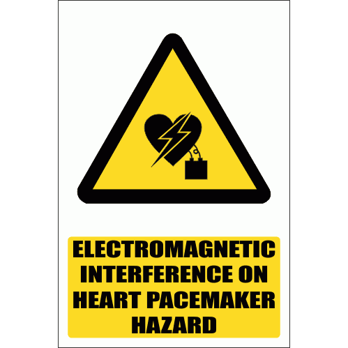 WW27E - Electromagnetic Interference On Pacemaker Explanatory Safety Sign