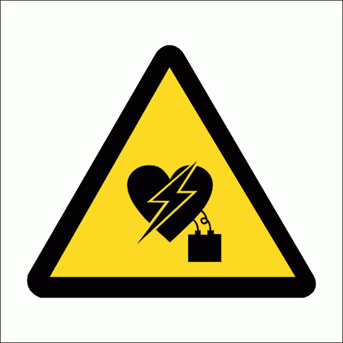 WW27 - Electromagnetic Interference On Pacemaker Safety Sign