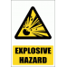 WW3E - Explosive Hazard Explanatory Safety Sign