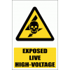WW23E - Exposed Live Explanatory Safety Sign