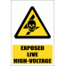 EL28 - Exposed Live Explanatory Safety Sign