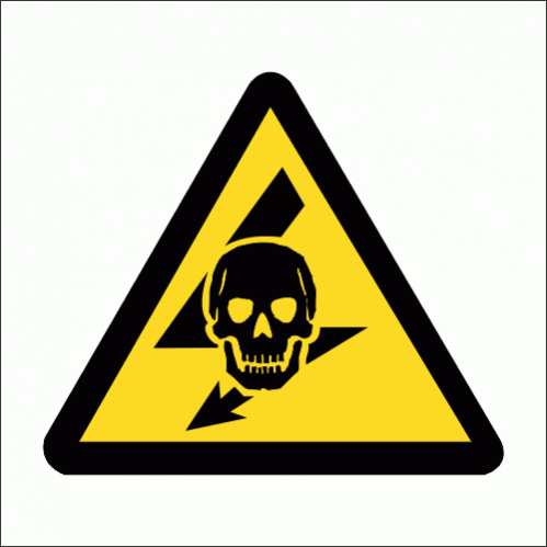 WW23 - Exposed Live Safety Sign