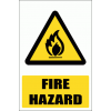WW2E - Fire Hazard Explanatory Safety Sign