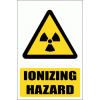WW6E - Ionizing Hazard Explanatory Safety Sign