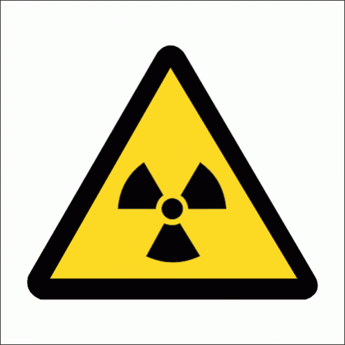 WW6 - Ionizing Hazard Safety Sign