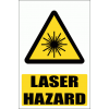 WW12E - Laser Hazard Explanatory Safety Sign