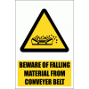 WW21E - Material Falling From Conveyor Explanatory Safety Sign