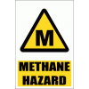 WW9E - Methane Hazard Explanatory Safety Sign