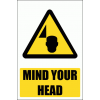 WW36E - Mind Your Head Explanatory Safety Sign