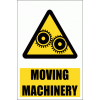 WW17E - Moving Machinery Explanatory Safety Sign