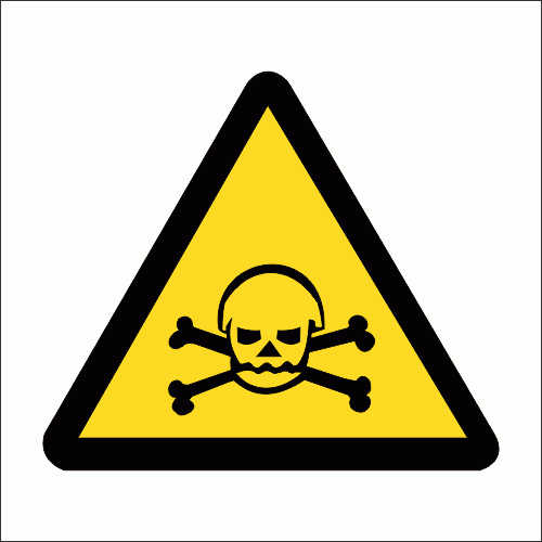 WW5 - Poisonous Hazard Safety Sign