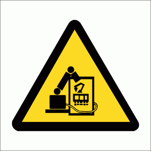 WW34 - Robotics Process Automation Safety Sign