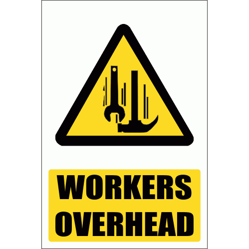 WW14E - Workers Overhead Explanatory Safety Sign