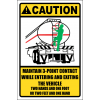 LD9 - Caution 3 Point Contact Sign