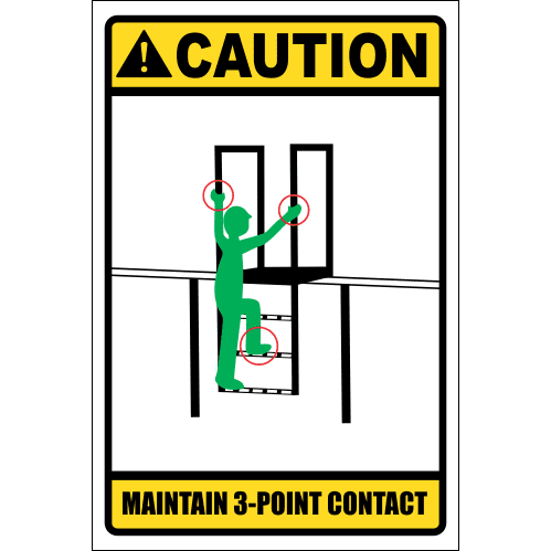 LD3 - Caution 3 Point Contact Sign