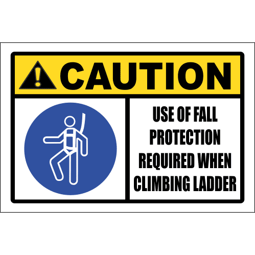LD16 - Caution Use Of Fall Protection Sign
