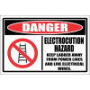 LD15 - Danger Electrocution Hazard Sign