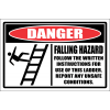 LD14 - Danger Falling Hazard Sign