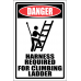 LD17 - Danger Harness Required Sign