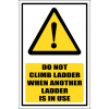 LD10 - Do Not Climb Sign