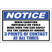 LD36 - Notice 3 Points Of Contact Sign