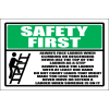 LD1 - Safety First Ladder Sign
