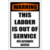 LD38 - Warning Ladder Out Of Order Sign