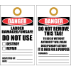 LDT1 - Danger Ladder Damaged Tag