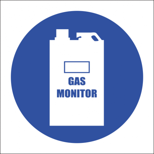MV17 - SABS Carbon Monoxide Gas Monitor Safety Sign