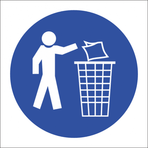 MV14 - SABS Keep Area Clean Safety Sign