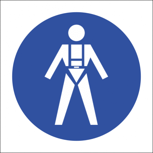 MV18 - SABS Full Body Harness Safety Sign