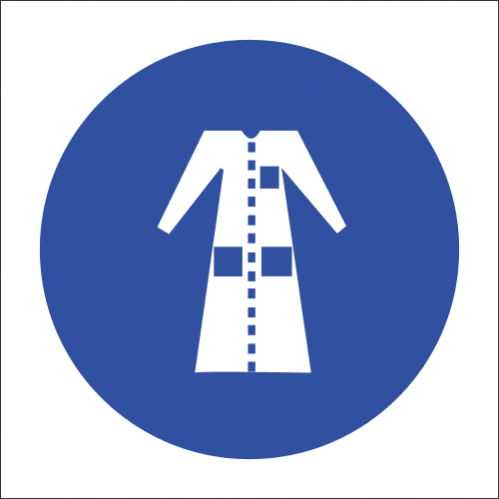 MV21 - SABS Lab Coat Safety Sign