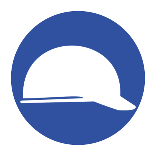 MV3 - SABS Head Protection Safety Sign