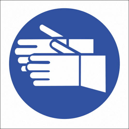 MV5 -SABS Hand Protection Safety Sign