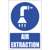 MV13E - Air Extraction Explanatory Safety Sign