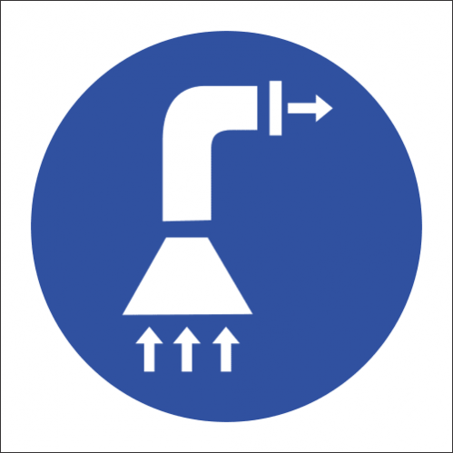 MV13 - Air Extraction Safety Sign
