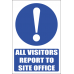 MA32 - All Visitors Safety Sign