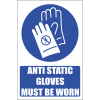 MA26E - Anti Static Gloves Safety Sign