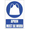 MV9E - Apron Protection Explanatory Safety Sign