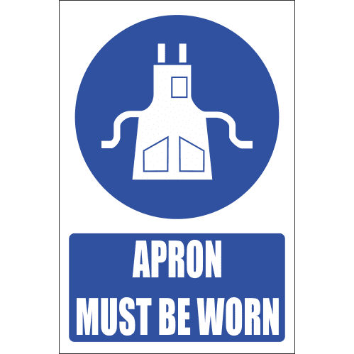 MV9EN - Apron Protection Explanatory Safety Sign