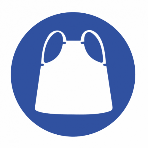 MV9 - Apron Protection Safety Sign