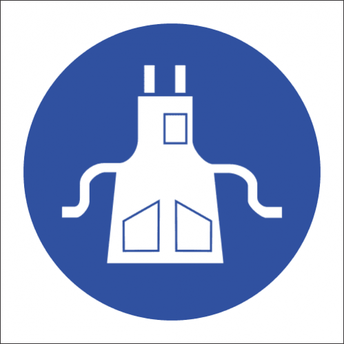 MV9N - Apron Protection Safety Sign