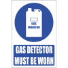 MV17E - Gas Monitor Explanatory Safety Sign