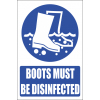 MA10E - Disinfect Boots Explanatory Safety Sign