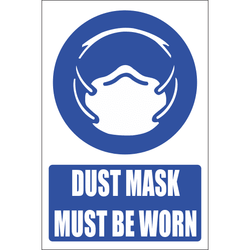 MV12E - Dust Mask Explanatory Safety Sign