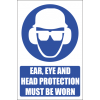 MA14E - Ear, Eye and Head Protection Explanatory Safety Sign