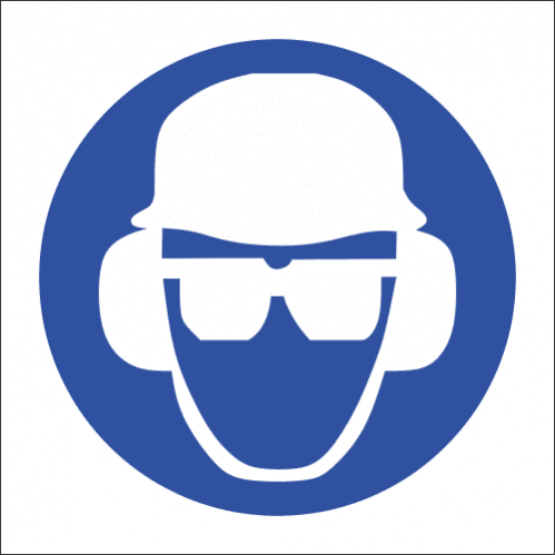 MA14 - Ear, Eye and Head Protection Safety Sign