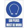 MV19E - Ear Plugs Explanatory Safety Sign