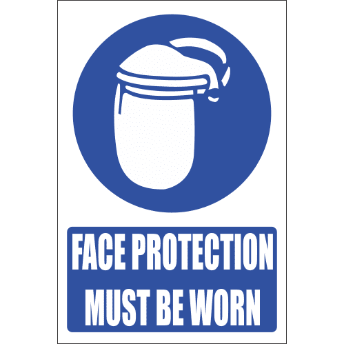 MV10E - Face Protection Explanatory Safety Sign