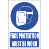 MV10EN - Face Protection Explanatory Safety Sign